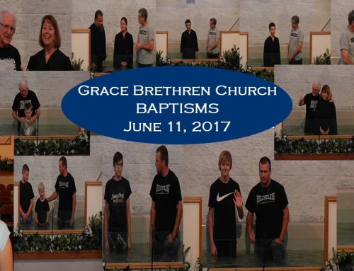 Baptisms at Grace Brethren Church